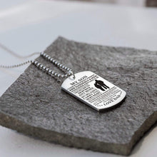 Load image into Gallery viewer, Dad To Son-I Will Always Carry You In My Heart Personalized Dog Tags 6060