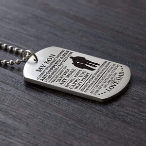Dad To Son-I Will Always Carry You In My Heart Personalized Dog Tags 6060