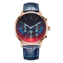 Load image into Gallery viewer, Dad To Son-Never Lose Customized Leather Strap Metal Engraved Wrist Watch k4530