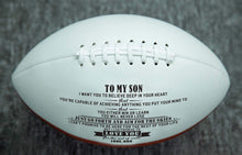 Load image into Gallery viewer, Dad To Son- Never Lose Engraved American Football 002