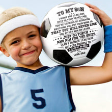 Load image into Gallery viewer, Dad To Son Never Lose Engraved Soccer Ball Gift 004