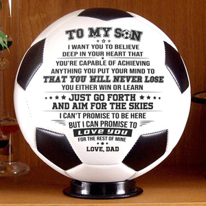 Dad To Son Never Lose Engraved Soccer Ball Gift 004
