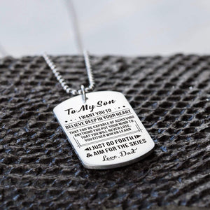 Dad To Son-Never Lose Personalized Dog Tags For Graduation Birthday Gift 6027