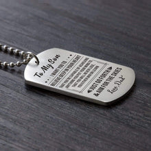 Load image into Gallery viewer, Dad To Son-Never Lose Personalized Dog Tags For Graduation Birthday Gift 6027