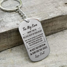 Load image into Gallery viewer, Dad To Son-Never Lose Personalized Dog Tags For Graduation Birthday Gift 6027 Keychain