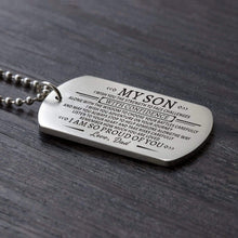 Load image into Gallery viewer, Dad To Son-Proud Of You Personalized Dog Tags For Graduation Birthday Gift 6013 Necklace