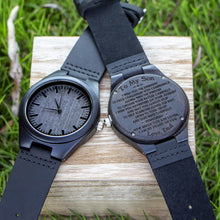 Load image into Gallery viewer, Dad to Son- So Proud Of You Engraved Wooden Watch