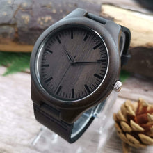 Load image into Gallery viewer, Dad to Son- So Proud Of You Engraved Wooden Watch W1802