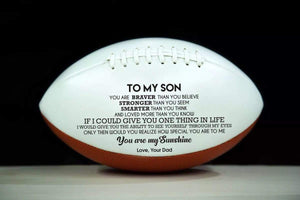 Dad To Son- You Are My Sunshine Engraved American Football 003