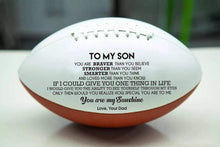 Load image into Gallery viewer, Dad To Son- You Are My Sunshine Engraved American Football 003
