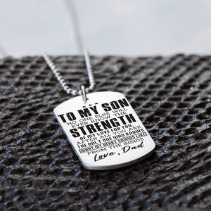 Dad To Son-You Are The Only One Who Knows My Heart Dog Tags 6038