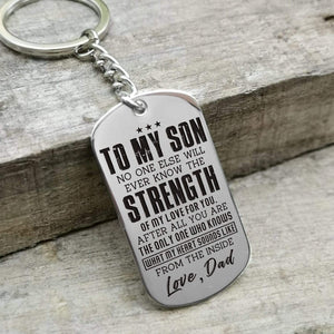 Dad To Son-You Are The Only One Who Knows My Heart Dog Tags 6038 Keychain