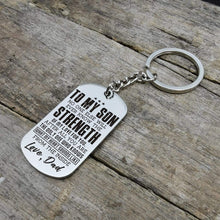 Load image into Gallery viewer, Dad To Son-You Are The Only One Who Knows My Heart Dog Tags 6038