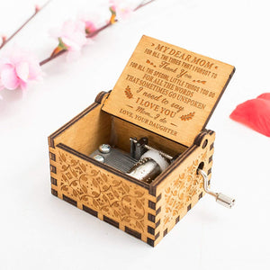 Daughter To Mom-I Love You I do Engraved Wooden Music Box  MB019