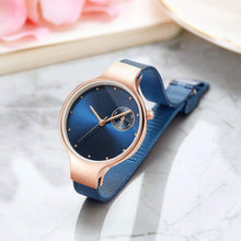 Load image into Gallery viewer, Daughter To Mom-You Are The Most Wonderful One Personalized Three-Hand Quartz Leather Watch