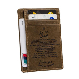 Engraved Leather Front Pocket Wallet, Color - for Dad