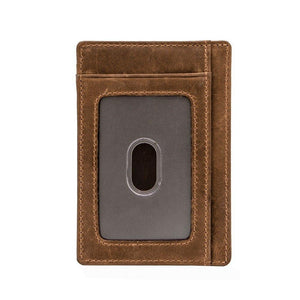 Engraved Leather Front Pocket Wallet, Color - Mom for Son