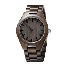 Load image into Gallery viewer, Dad to Son Engraved Natural Ebony Wooden Watch