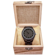 Load image into Gallery viewer, Engraved Natural Ebony Wooden Watch, Color - Dad for Son
