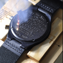 Load image into Gallery viewer, Engraved Wooden Watch For Men - Beiby Bamboo