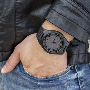Engraved Wooden Watch For Son From Mom and Dad