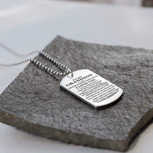 Grandma To Grandson-Do Your Best Personalized Dog Tags Graduation Birthday Gift 6005
