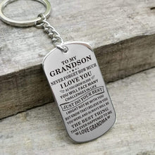 Load image into Gallery viewer, Grandma To Grandson-Do Your Best Personalized Dog Tags Graduation Birthday Gift 6005 Keychain