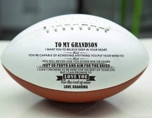 Load image into Gallery viewer, Grandma To Grandson- Never Lose Engraved American Football 005