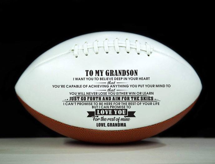 Grandma To Grandson- Never Lose Engraved American Football 005