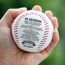 Load image into Gallery viewer, Grandpa To Grandson-Love You For The Rest Of Mine Engraved Baseball Gift QB004