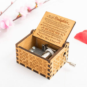 Mom Dad To Daughter-You Will Always Be Our Baby Engraved Wooden Music Box  MB014