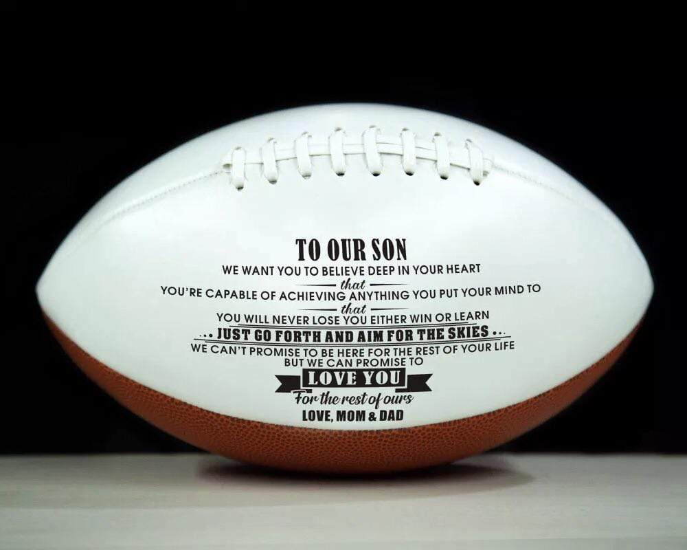 Mom Dad To Son- Never Lose Engraved American Football 007