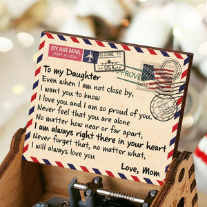 Mom To Daughter-Always Love You Engraved Wooden Music Box  MB029