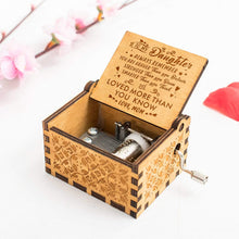 Load image into Gallery viewer, Mom To Daughter-Love You More Than You Know Engraved Wooden Music Box  MB002
