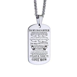 Mom To Daughter-Never Lose Personalized Dog Tags Graduation Birthday Gift 6007 Necklace