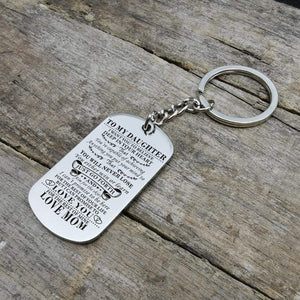 Mom To Daughter-Never Lose Personalized Dog Tags Graduation Birthday Gift 6007 Keychain