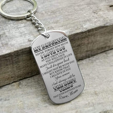 Load image into Gallery viewer, Mom To Daughter-The Best Thing Personalized Dog Tags For Graduation Birthday Gift 6028 Keychain