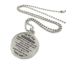 Load image into Gallery viewer, Mom To Son-Always Here For You Engraved Necklace and Key chain Necklace