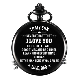 Mom To Son-Be The Man I Know You Can Quartz Pocket Chain Watch 4502