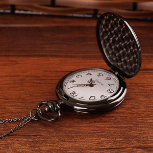 Mom To Son-Continue To Persist And Persevere Quartz Pocket Chain Watch 4504