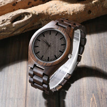 Load image into Gallery viewer, Mom to Son Engraved Natural Ebony Wooden Watch