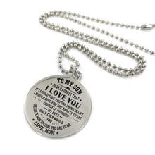 Load image into Gallery viewer, Mom To Son-How Special You Are Engraved Necklace and Key chain Necklace
