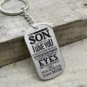 Mom To Son-How Special You Are Personalized Dog Tags For Graduation Birthday Gift 6016 Keychain