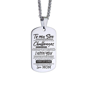 Mom To Son-I Am So Proud Of You Personalized Dog Tags 6043