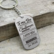 Load image into Gallery viewer, Mom To Son-I Am So Proud Of You Personalized Dog Tags 6043
