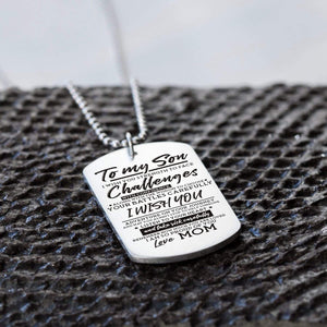 Mom To Son-I Am So Proud Of You Personalzied Dog Tags 6043