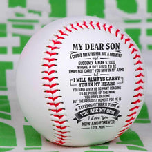 Load image into Gallery viewer, Mom To Son-I Will Always Carry You In My Heart Engraved Baseball Gift