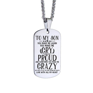 Mom To Son-Love With All My Heart Personalized Dog Tags 6054