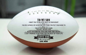 Mom To Son- Never Lose Engraved American Football 001