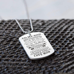 Mom To Son-Never Lose Personalized Dog Tags Graduation Birthday Gift 6009